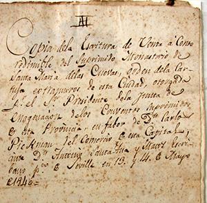 Contrato de venta de La Cartuja a Pickman.