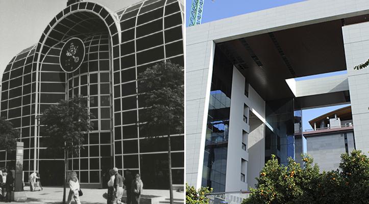 El esbelto Pabellón de la Santa Sede ha dado paso a un no menos alto edificio de oficinas / Archivo - F. Piñero