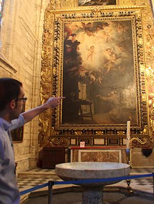 «La visión de San Antonio», de Murillo, en la Catedral / R.R.