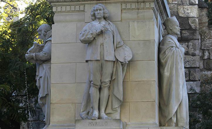 Murillo, flanqueado por Miguel Cid y Juan de Pineda, a los pies de la Inmaculada / Raúl Doblado