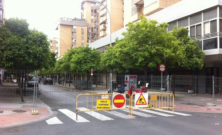 Obras en la red de abastecimiento de Santa María Mazzarello