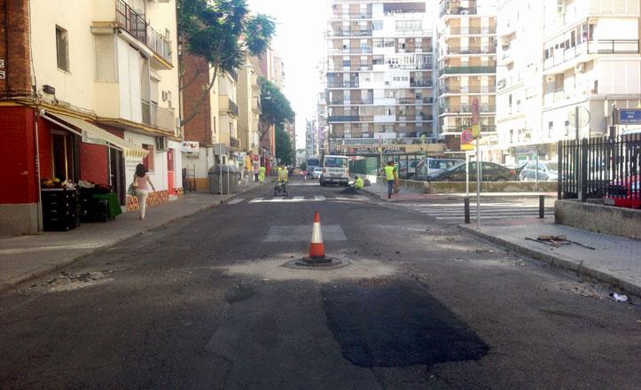 Comienzan las obras de reasfaltado de diez calles de Los Remedios