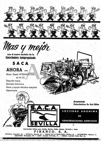 Anuncio de la S.A.C.A de junio de 1962 / ABC