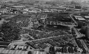 Vista aérea de las casitas bajas de San Pablo / «Nomenclatura...»