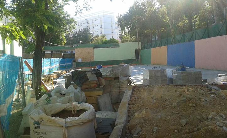 Obras en los colegios de San Pablo-Santa Justa