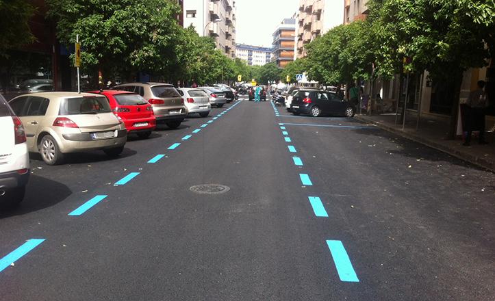 Repavimentación de calles del Distrito Nervión