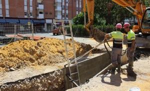Las obras de Ciudad de Montilla también alcanzan el subsuelo / F. Piñero