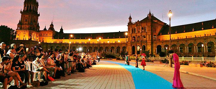 La plaza de España en Photoquivir