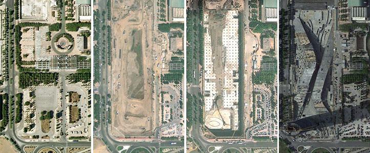 Torre Pelli Evolución Google Earth