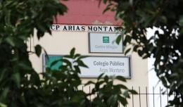 Rótulo del Colegio Arias Montano / Fran Piñero