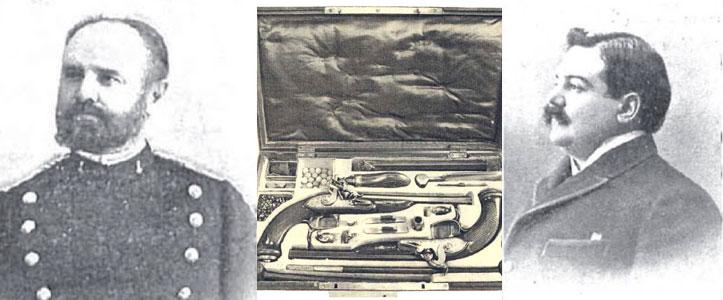El capitán Vicente García de Paredes y el marqués de Pickman, en el centro, las armas.