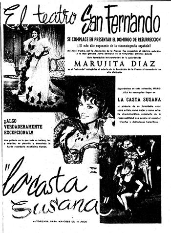 Anuncio de «La casta Susana»