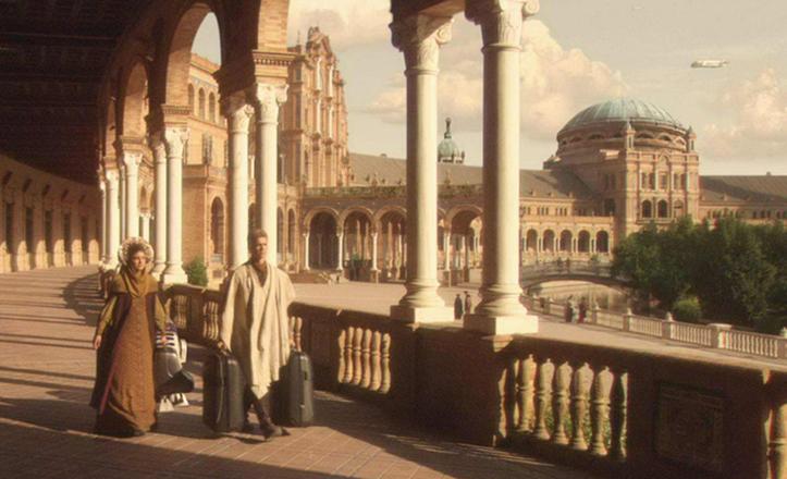 La Plaza de España en «La amenaza fantasma»