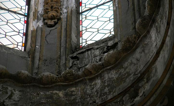 El mal estado de la cúpula de la Magdalena / Fotos: José Joaquín Fijo