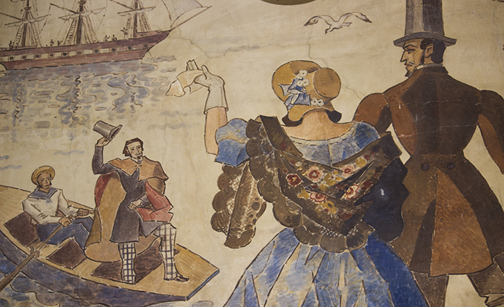 Mural de la Estación del Prado de San Sebastián / Fran Piñero