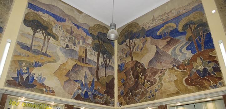 Juan Miguel Sánchez creó paisajes panorámicos fragmentados entre las distintas partes / Fran Piñero