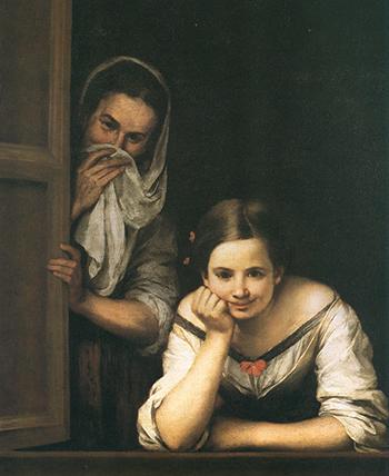 «Gallega en la ventana», de Murillo