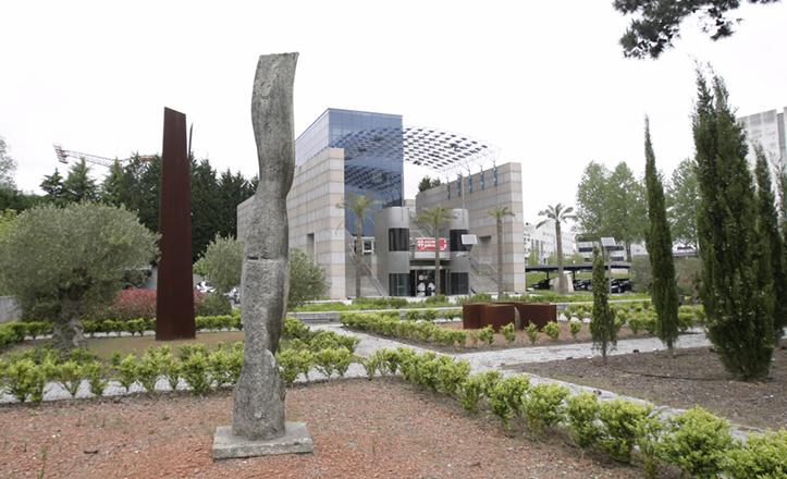 El Pabellón de Galicia para la Expo 92, en su emplazamiento actual cerca del Monte Do Gozo / www.turgalicia.es