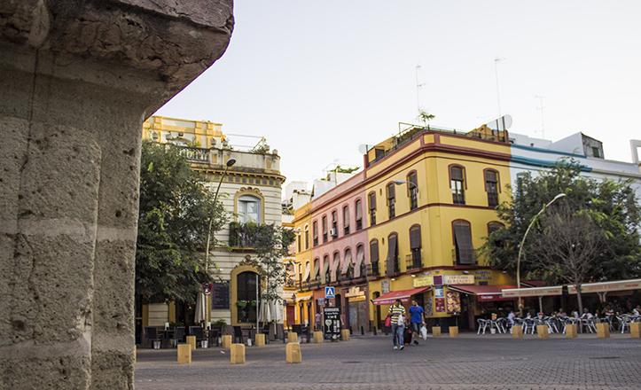 La calle Trajano vista desde la Alameda de Hércules / Fran Piñero