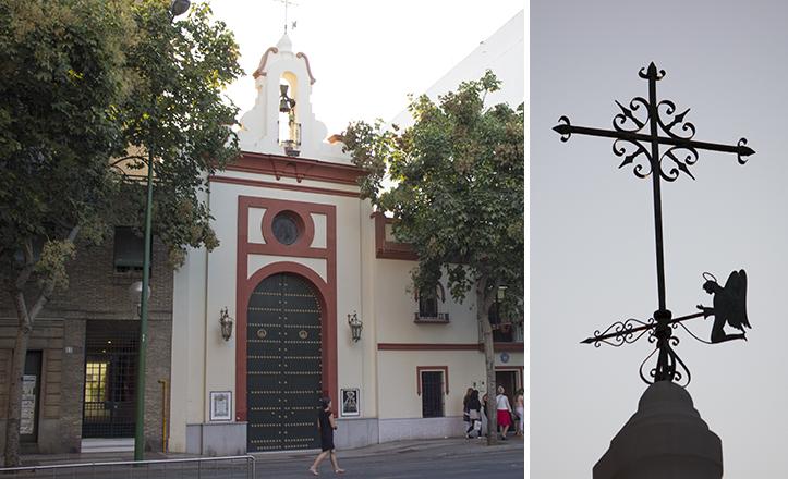 La sede canónica de Los Negritos tiene, en honor a su titular mariana, un ángel por veleta / Fran Piñero