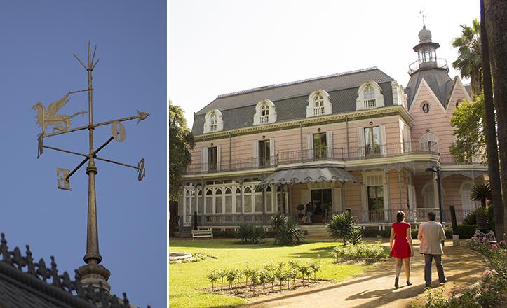 Muy del estilo «fin de siecle» es la veleta dragontina de la emblemática Villa Eugenia / Fran Piñero