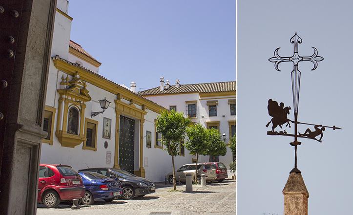 El implacable apóstol Santiago trota por los cielos del Casco Antiguo de Sevilla / Fran Piñero