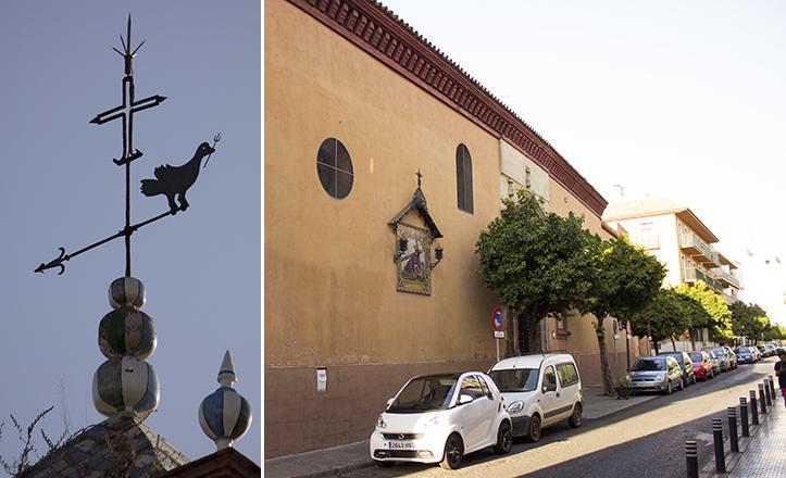 Un místico cuervo con tridente en el pico corona la torre de la iglesia de San Vicente / Fran Piñero