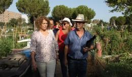 La delegada Adela Castaño en el Parque Tamarguillo