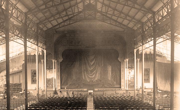 Escenario del Teatro-circo Eslava a comienzos del siglo XX