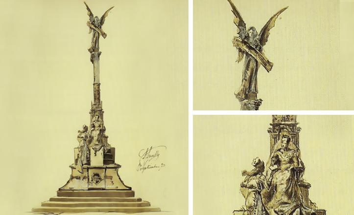 Proyecto de Monumento de Antonio Susillo a la Infanta María Luisa de Borbón / Archivo Municipal