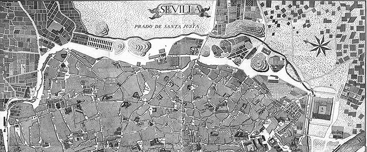Detalle del plano de Olavide