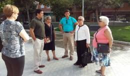 Inmaculada Acevedo, delegada de San Pablo-Santa Justa, en la Plaza Sinaí