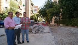 Juan Ignacio Zoido visita las obras de la calle Ciudad de Ronda