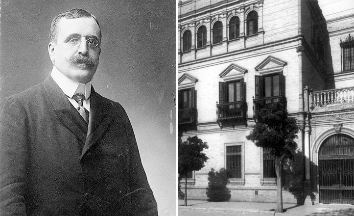 José Canalejas junto a la calle sevillana que lleva su nombre