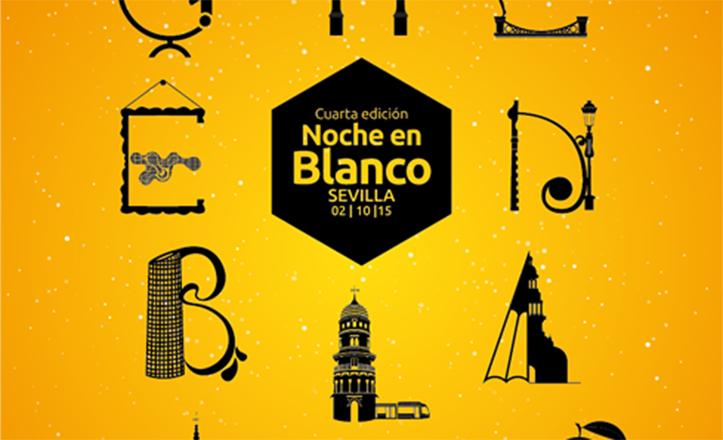 Fragmento del cartel de David Barco para la IV Noche en Blanco