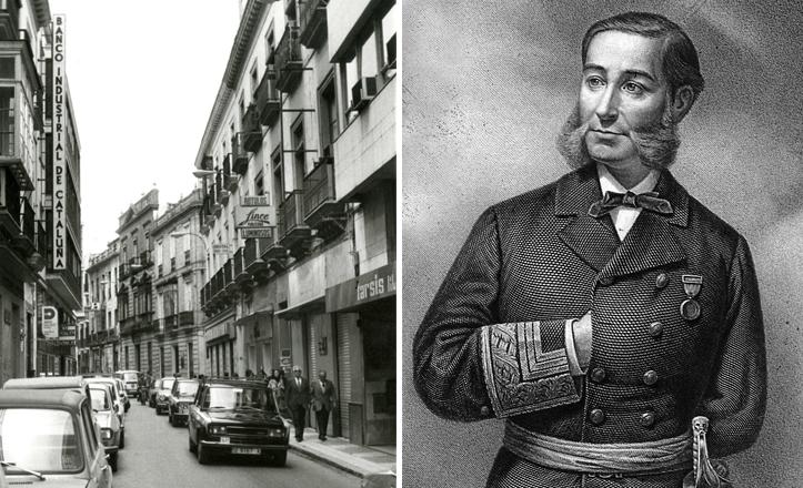 Casto Méndez Núñez y la calle a la que da nombre en Sevilla