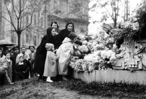 Ofrendas florales a la Inmaculada (Archivo ABC)- Serrano