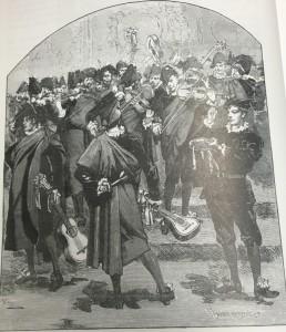 La Estudiantina Española en París, s. XIX. Imagen cedida por Alfredo J. Martínez González.