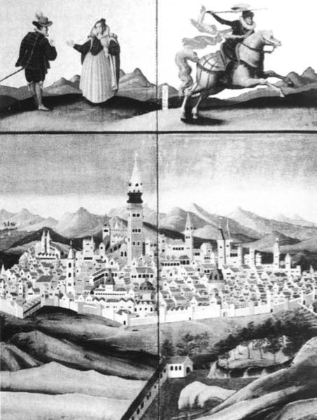 Vista de Sevilla en el biombo del Museo Municipal de Kobe.-F.G.G.