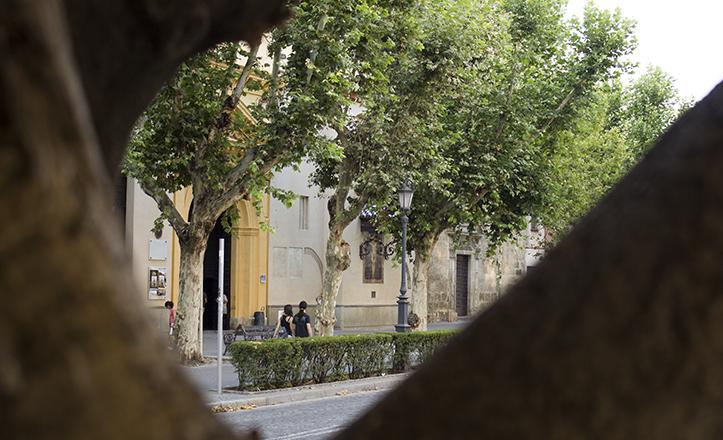 La plaza de la Magdalena, donde Machado vivió un episodio junto a «su madre» que le marcó desde la infancia